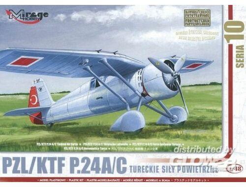 Mirage Hobby PZL/TFK P.24 C Türkische Luftwaffe mit Resin- und Fotoätzteilen 1:48 (48105)