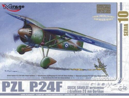 Mirage Hobby PZL P.24 F der griechischen Luftwaffe mit Resin- und Fotoätzteilen 1:48 (48107)