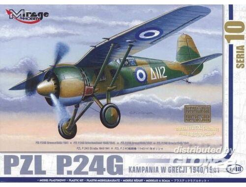 Mirage Hobby PZL P.24 G Griechenland 1940/41 mit Resin- und Fotoätzteilen 1:48 (48108)