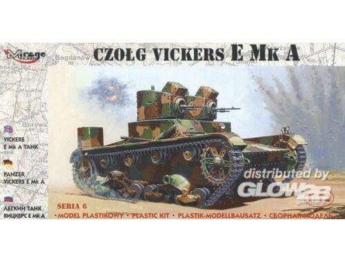 Mirage Hobby Leichter Panzer Vickers E Mk A 1:72 (72603)