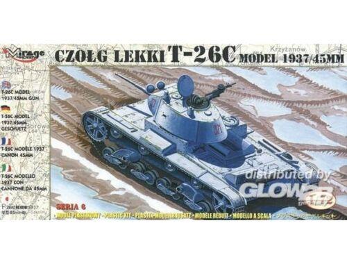 Mirage Hobby Leichter Panzer T-26 C Modell 1937 mit 45 mm Kanone 1:72 (72611)