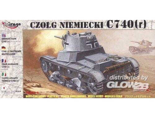 Mirage Hobby Deutscher Panzer C 740 (r) 1:72 (72619)