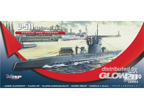 Mirage Hobby German U-Boot U-511 - IX C (turmI WGr42) 1:350 (350502)