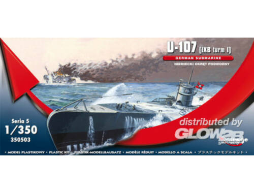 Mirage Hobby U-107 (IXB turm I) GERMAN SUBMARINE 1:350 (350503)