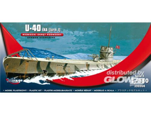 Mirage Hobby U-40 IXA (Turm i) German Submarine 1:350 (350504)