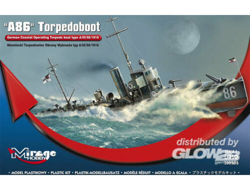 Mirage Hobby A 86 German Torpedoboat A/III Class 1:350 (350505)