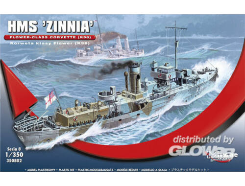 "Mirage Hobby HMS ""Zinnia"" Flower-Class Corvette K98 1:350 (350802)"