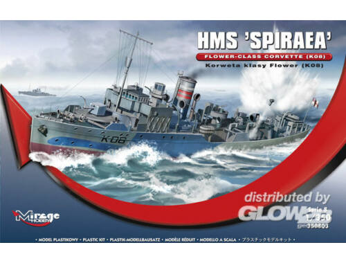 Mirage Hobby HMS SPIRAEA Flower-Class Corvette (K08) 1:350 (350803)