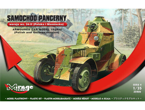 Mirage Hobby Armoured car model 1934/II polish german 1:35 (355020)