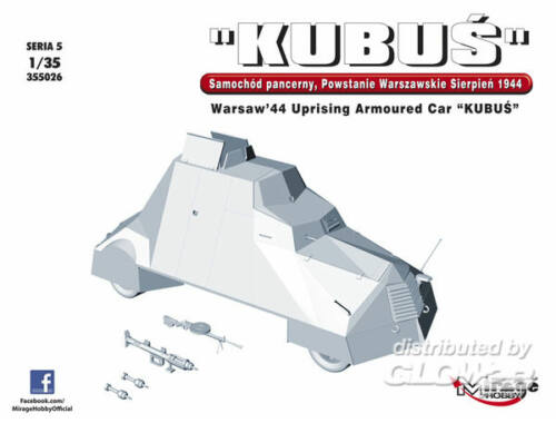 Mirage Hobby KUBUS Warsaw´44 Uprising Armoured Car 1:35 (355026)