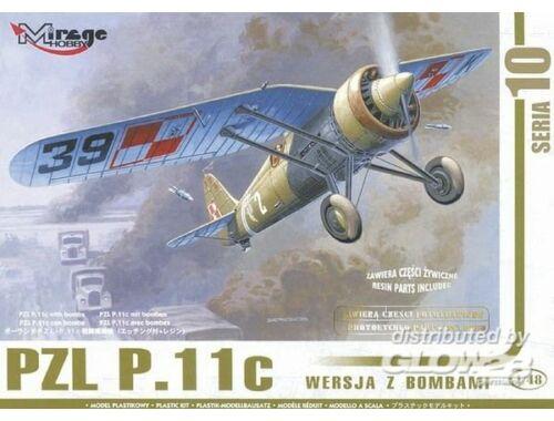 Mirage Hobby PZL P.11c mit Bomben, Resin- und Fotoätzteilen 1:48 (481002)