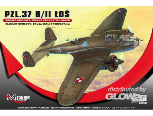 Mirage Hobby PZL.37 B/II LOS Bomber Aircraft 1:48 (481310)