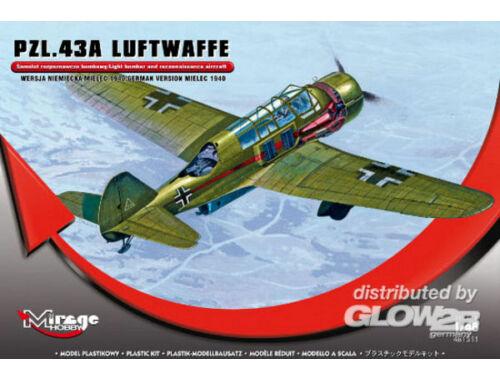 Mirage Hobby PZL.43A Luftwaffe Germ.Vers. MIELEC 1940 1:48 (481311)