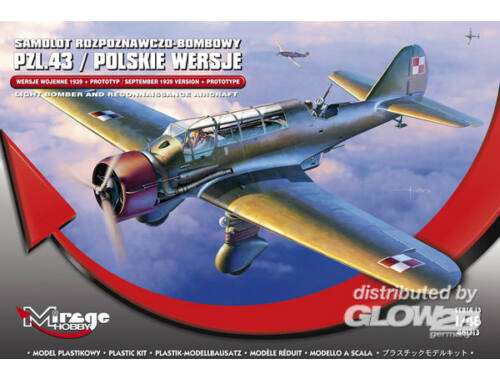 "Mirage Hobby PZL.43 ""September 1939 VER. Prototype"" 1:48 (481313)"