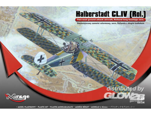 Mirage Hobby Halberstadt CL.IV(Rol)Twi-seat ground su 1:48 (481314)