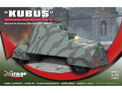 Mirage Hobby KUBUS (Warsaw'44 Uprising Armoured Car) 1:72 (724001)