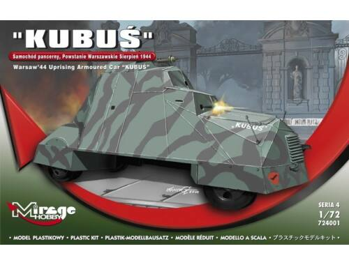 Mirage Hobby KUBUS (Warsaw'44 Uprising Armoured Car) 1:72 (724001)