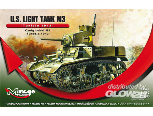 "Mirage Hobby U.S. Light Tank M3 ""Tunisia 1943"" 1:72 (726073)"