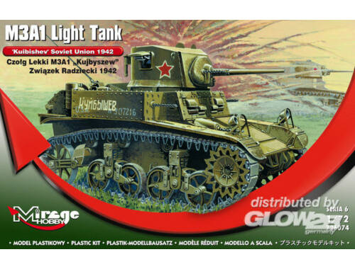 Mirage Hobby M3A1 Light Tank 'Kuibishev' Sov. Union 1:72 (726074)