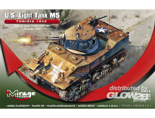 "Mirage Hobby U.S. Light Tank M5 ""TUNISIA 1942"" 1:72 (726077)"