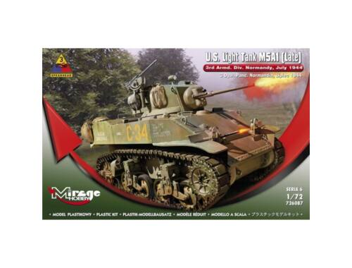 Mirage Hobby U.S.Light Tank M5A1 (Late) 3rd Armd.DivN 1:72 (726087)