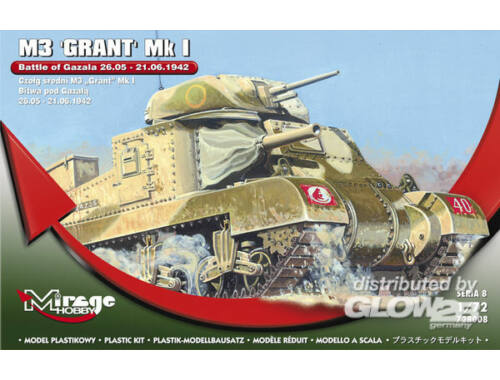 Mirage Hobby M3 GRANT Mk I Battle of GAZALA -21.06.42 1:72 (728008)