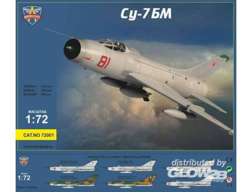 Modelsvit Sukhoi Su-7BM Soviet fighter-bomber,Re-r 1:72 (72001)