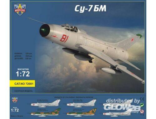 Modelsvit Sukhoi Su-7BM Soviet fighter-bomber,Re-r 1:72 (72001)