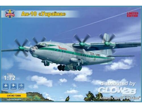 Modelsvit Antonov An-10-10 Ukraine civil aircraft 1:72 (72008)