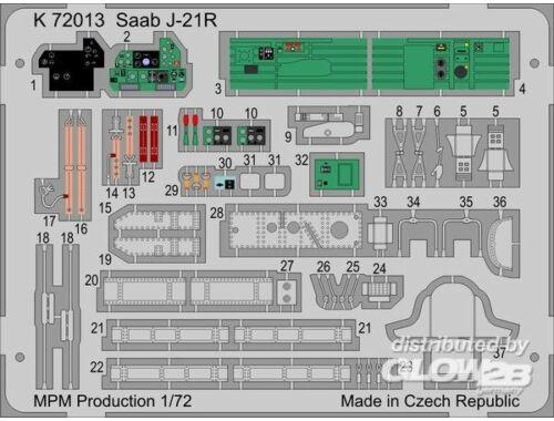 MPM SAAB J/A-21R 1:72 (K72013)