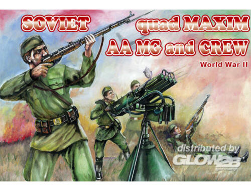 Orion Soviet quad Maxim AA MG and crew 1:72 (72037)