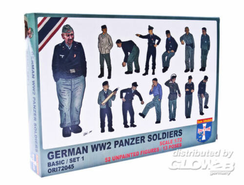 Orion WWII German panzer soldiers, set 1 1:72 (72045)