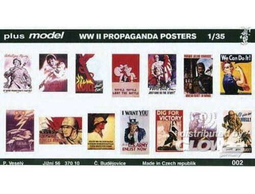 Plus Model Propaganda Poster Gemischt Deutsch, Englisch, USA, Russisch. 1:35 (002)