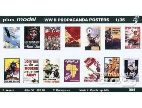 Plus Model Propaganda Poster Gemischt Deutsch, Englisch, USA, Russisch. 1:35 (004)