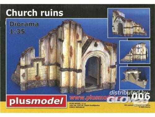 Plus Model Kirchenruine WW II Keramik. 1:35 (006)