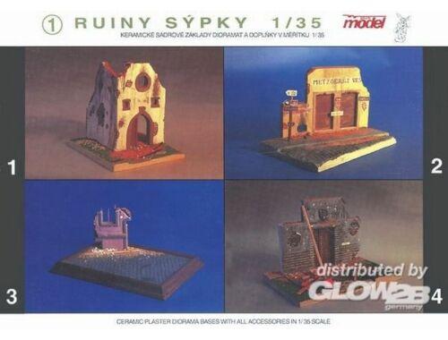 Plus Model Getreidesilo-Ruine WW II auch für andere Epochen 1:35 (031)
