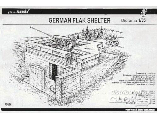 Plus Model Deutscher Flak Bunker WW II 1:35 (046)