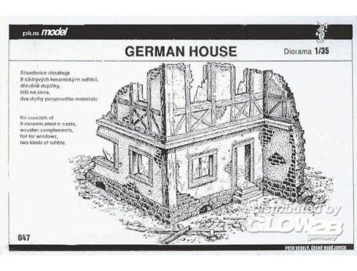 Plus Model Deutsches Fachwerkhaus-Ruine 1:35 (047)
