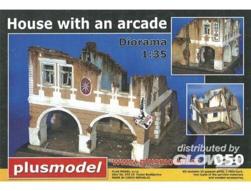 Plus Model Haus mit Passage WW II 1:35 (050)