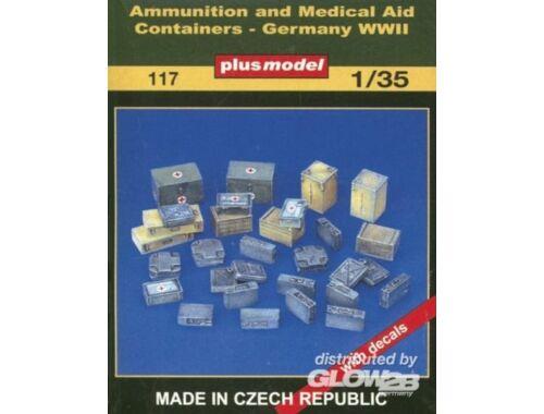 Plus Model Munitions- und Medizinbehälter WW II 1:35 (117)