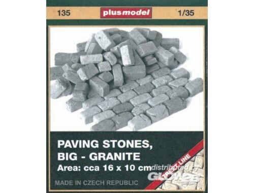 Plus Model Pflastersteine, groß, Granit 1:35 (135)