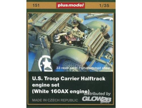 Plus Model U.S. Truppen Halbkettenfahrzeug engine set (white 160AX engine) 1:35 (151)