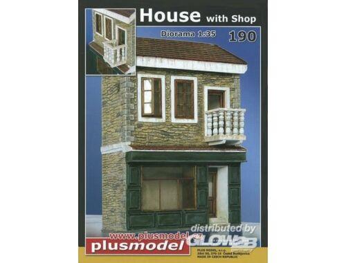 Plus Model Haus mit Shop 1:35 (190)