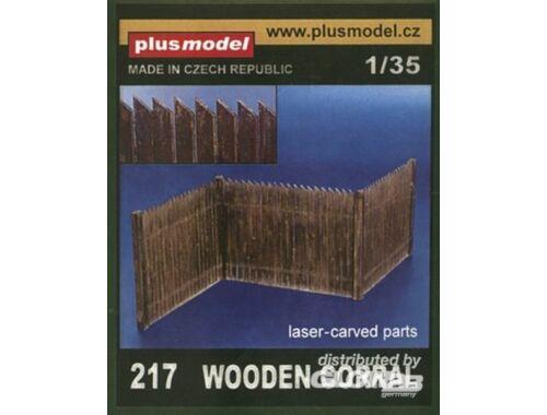 Plus Model Lattenzaun aus echtem Holz 1:35 (217)