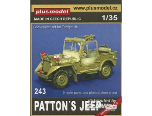 Plus Model Patton's Jeep für Tamiya Bausatz 1:35 (243)