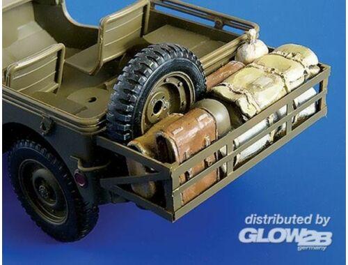 Plus Model Anbau mit Gepäck für Tamiya Bausatz 1:35 (246)