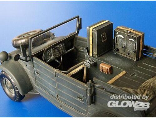 Plus Model Kübelwagen Radio Car Kfz. 2 Umbau Set für Tamiya Bausatz 1:35 (250)