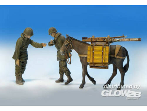 Plus Model U.S. Infantrist mit Maultier 1:35 (323)