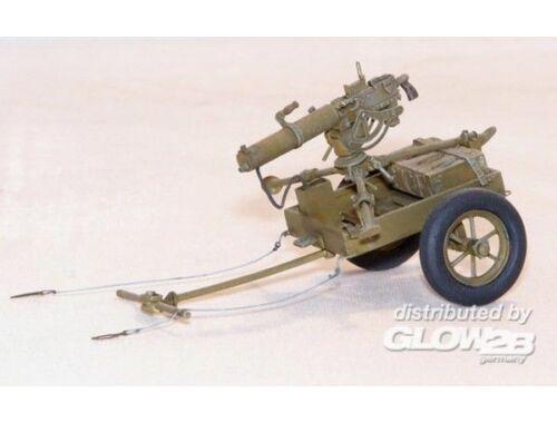 Plus Model U.S. Handkarren M3A1 mit Browning 0,3 1:35 (400)
