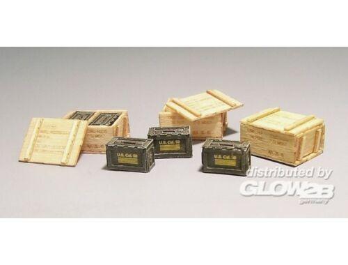 Plus Model US wooden ammunition boxes - Vietnam 1:35 (420)